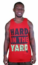 Yea Nice Hard In The Yard Red Navy Green Weed Leaves Tank Top Muscle Shirt