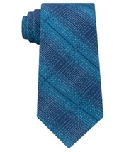 Kenneth Cole Reaction Men's Silk Pattern Neck Tie Blue One Size  - $27.23