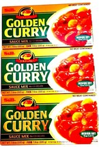 S&B Golden Curry Sauce Mix - Medium Hot 7.8 oz ( Pack of 3 ) FREE FAST S... - $24.50