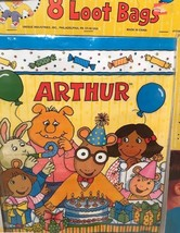 Very Rare Vintage Arthur Read By Mark Brown 8 Loot Party Bags For Birthdays - $6.78