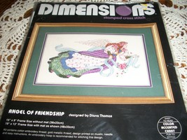 Dimensions Angel Of Friendship Stamped Cross Stitch Kit 3150 - $18.00