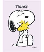 """Snoopy And Woodstock Collectible Peanuts """"Thanks"""" Stand-Up Display - Ani... - $15.99"""