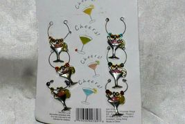 Wine Glass Charm Markers Set of 6 Silver With Beads and Charms - $7.00