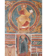 CHURCH PAINTINGS 12th C France Christ Evangelic Symbols - 1888 COLOR Lit... - $25.20