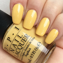 OPI Kerry ~NEVER A DULLES MOMENT~ Muted Pale Yellow Nail Polish Lacquer ... - $7.99