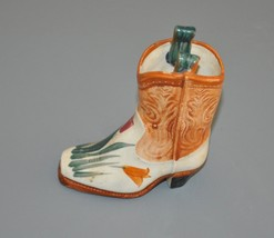 Vintage Occupied Japan Miniature Porcelain Cowboy Boot Toothpick Holder ... - $23.75