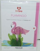 Lovepop LP1816 Flamingo Pop Up Card with White Envelope Package 1 image 6