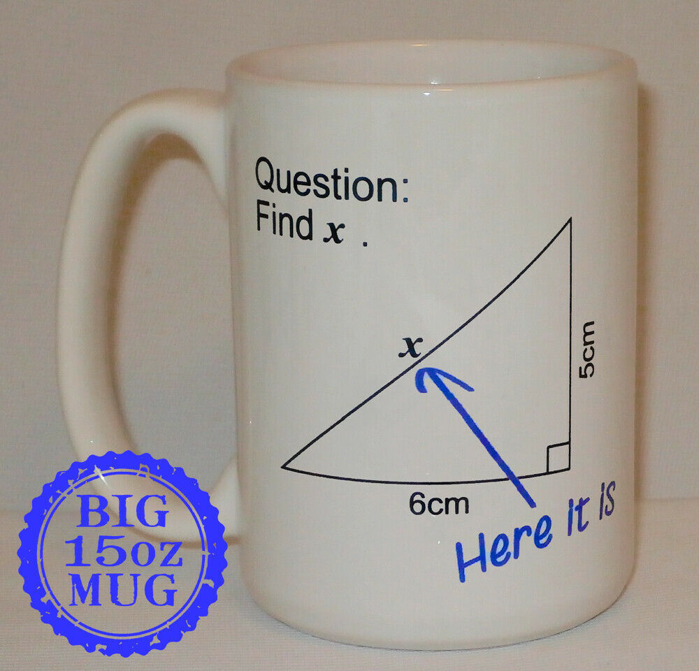 Primary image for Find X Maths Question Mug Big 15 Oz Mug Can Personalise Funny Teacher Math Gift
