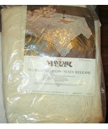 Mayfair Lace Tablecloth 84x60 Permanent Press Stain Release Kingston Pat... - $29.69