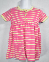 Girls BOUTIQUE HANNA ANDERSSON PINK YELLOW OPPOSITE STRIPES Play DRESS 7... - $17.81