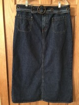 "Kikit Denim Size 16 W36"" Semi Modest Boho Maurice Sasson Belt Vtg - $31.92"