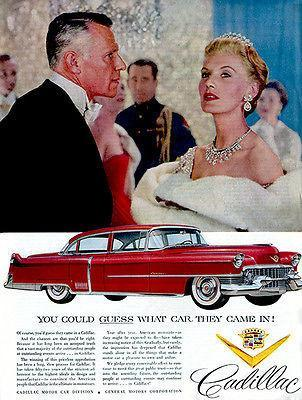 Primary image for 1954 Cadillac - Guess Which Car They Came In - Promotional Advertising Poster