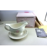 Pfaltzgraff Perennials Gravy Boat with Saucer 25-433 Tea Rose Collection  - $19.99