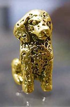 NICE Poodle Dog puppy Charm European bead jewelry Gold pltd over Real St... - $26.93