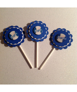 Mlb Los Angeles Dodgers Cupcake Topper party deco baseball birthday hand... - $12.00