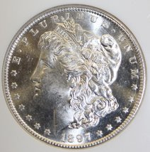1897 S Redfield NGC MS 63 Choice Brilliant Semi Proof Like Morgan Silver Dollar - $389.95