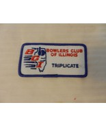Bowlers Club of Illinois Men's Triplicate Score Patch from the 90s Blue ... - $7.43