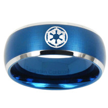 Star Wars Empire 8mm Brushed Blue Dome Tungsten Carbide Ring - $43.99