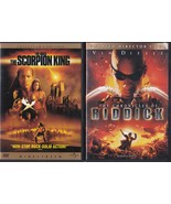 The Scorpion King & The Chronicles of Riddick Widescreen DVD's - $5.99