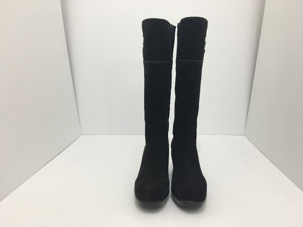 La Canadienne Galaxy Brown Suede Women's Knee High Platform Wedge Heel Boots 5 M image 6