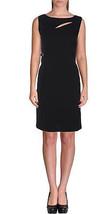 Calvin Klein Women's Scuba Crepe Cut-Out Wear To Work Dress, Black, 4 - $44.54