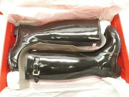 Hunter Women's Knee-High Rubber Rain Boots - Gloss Black - Size:8 - $108.74