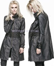 NEW Punk Rave Gothic Heavy Metal Faux Leather Jacket Coat Y-551 FAST POS... - $140.78