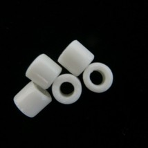 1000 White African Tile Tube Beads 296g Czech Glass for jewelry beading ... - $11.99