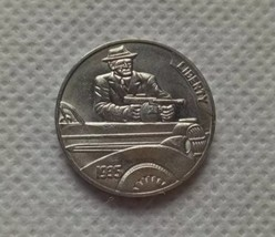 New Hobo Nickel 1935 Gangster With Tommy Gun by Car Coin Buffalo - $11.99