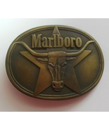 Vintage Marlboro Solid Brass Belt Buckle Philip Morris, Inc.1987 - $29.70