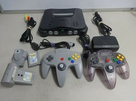 TESTED Grey Nintendo 64 N64 Video Game Console System OEM Controller Cord Extras - $158.39