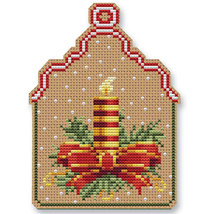 Christmas Candle Ornament Kit cross stitch Colonial Needle  - $13.50