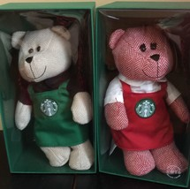Starbucks Set Of 2 Limited Edition 2016 Bearista Bears New Collectible Gift - $45.63