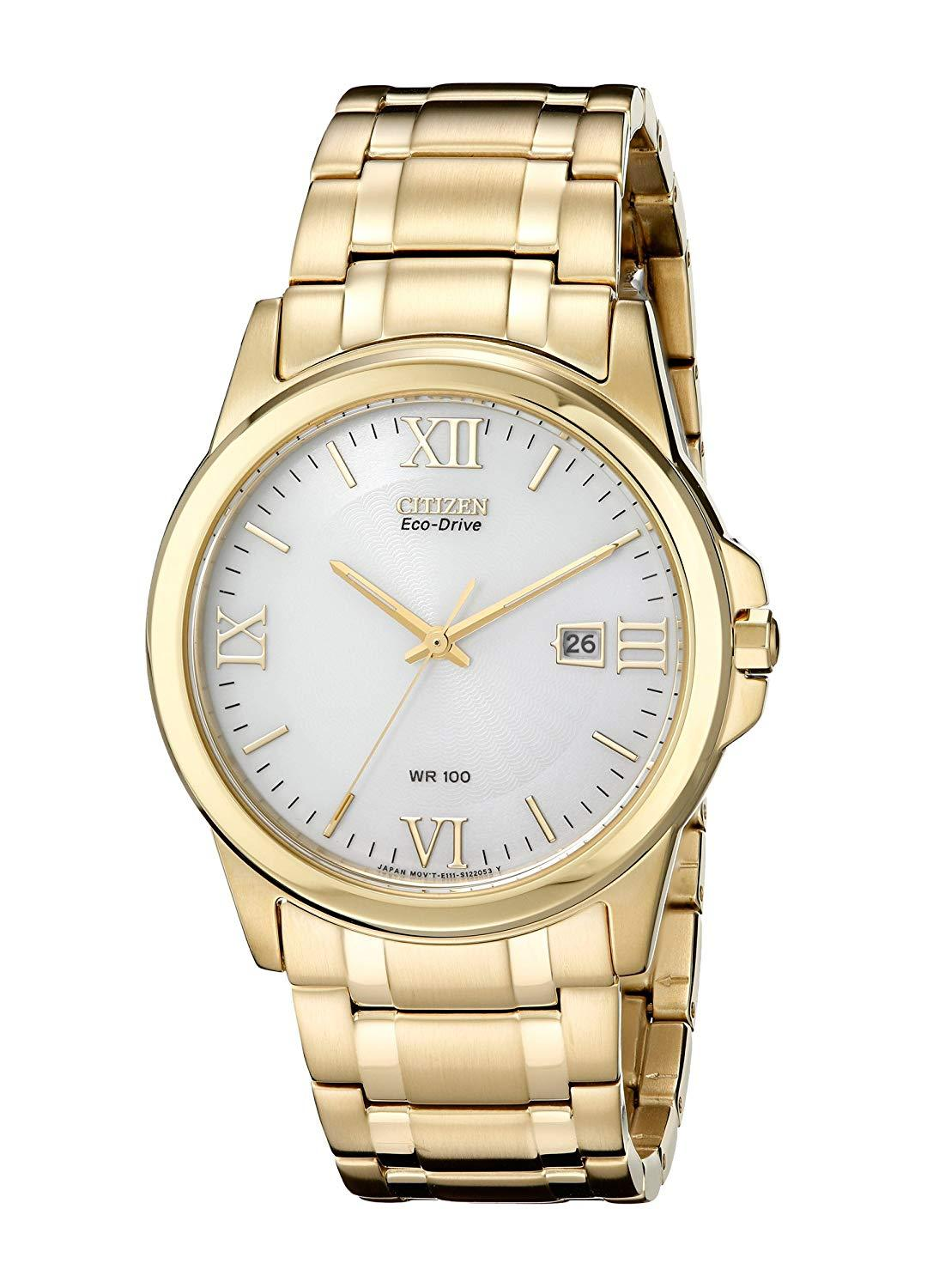 Citizen Men's Eco-Drive Stainless Steel Gold Tone Watch BM7262-57A
