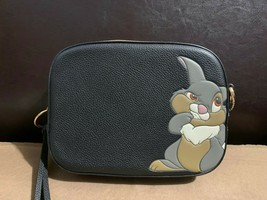NWT Coach Disney X Camera bag  Bambi Thumper  black crossbody 69253 SOLD... - $415.00