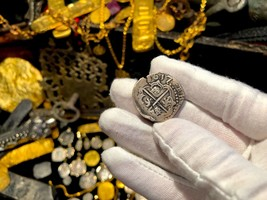 BOLIVIA 2 REALES 1617 DATED PIRATE GOLD COINS TO BE JEWELRY PENDANT NECK... - $1,795.00