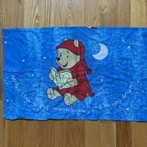 Vintage Disney Pooh Bear Pillow Case Blue Starry Sky - $14.54