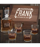 Bradshaw Argos Decanter Personalized Whiskey Gift with On the Rocks Glasses - $159.95