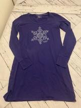 victorias secret pajama dress xs purple snowflake long sleeve - $12.50