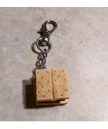 Sweet Smore Keychain Clay Fall Snack Chocolate  Cracker Accessory Key Fob - $7.00
