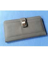 Large Gray Wallet by Gold Bond Inc with magneti... - $12.99