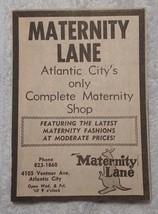 1964 Maternity Lane Shop Atlantic City New Jersey Advertisement - $15.00