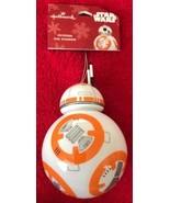 Hallmark 2018 Disney Star Wars Force Awakens BB-8 Droid Christmas Tree O... - $14.84