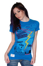 Cardboard Robot Women's Blue New Pollution Destruct Ozone Layer Myself T-Shirt image 3