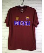 HKY Sportswear Men's Large Lionel Messi #10 FC Barcelona Jersey T-shirt ... - $19.79