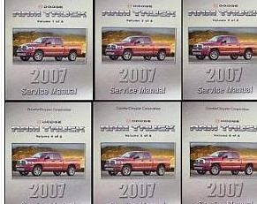 Primary image for 2007 DODGE RAM TRUCK 1500 2500 3500 Service Shop Repair Manual SET FACTORY NEW