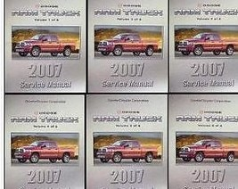 2007 DODGE RAM TRUCK 1500 2500 3500 Service Shop Repair Manual SET FACTO... - $712.75