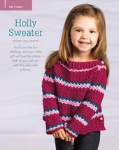 Z414 Crochet PATTERN ONLY Child's Holly and Hooper Pullover Sweater Patt... - $7.50