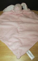 Angel Dear plush pink bunny rabbit Baby Security Blanket Lovey knotted toy - $8.90