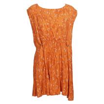 Free People Orange Fake Love Animal Print Crepe Mini Dress L - $79.99
